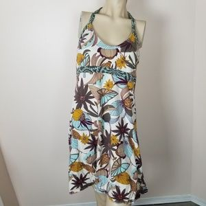 Patagonia halter dress. Organic cotton. Floral